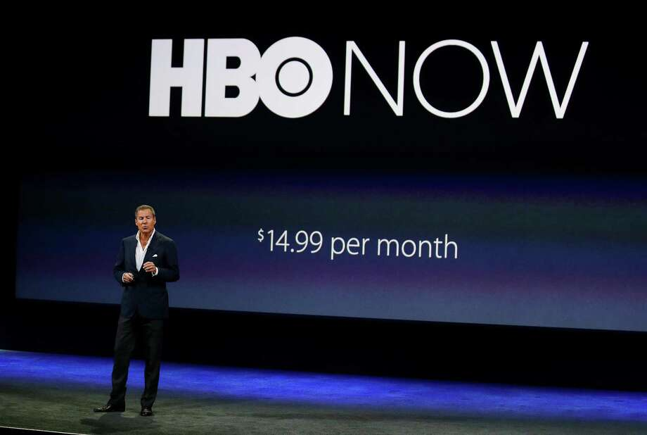 """Richard Plepler, CEO of HBO, talks about HBO Now for Apple TV during an Apple event in San Francisco. Like HBO Go, the app that cable and satellite TV subscribers have, HBO Now gives you instant access to new TV episodes and movies, along with programs from months and years ago. You don't need a cable TV package to watch hit shows such as """"Game of Thrones"""" and """"Girls."""" Photo: Associated Press File Photo / AP"""