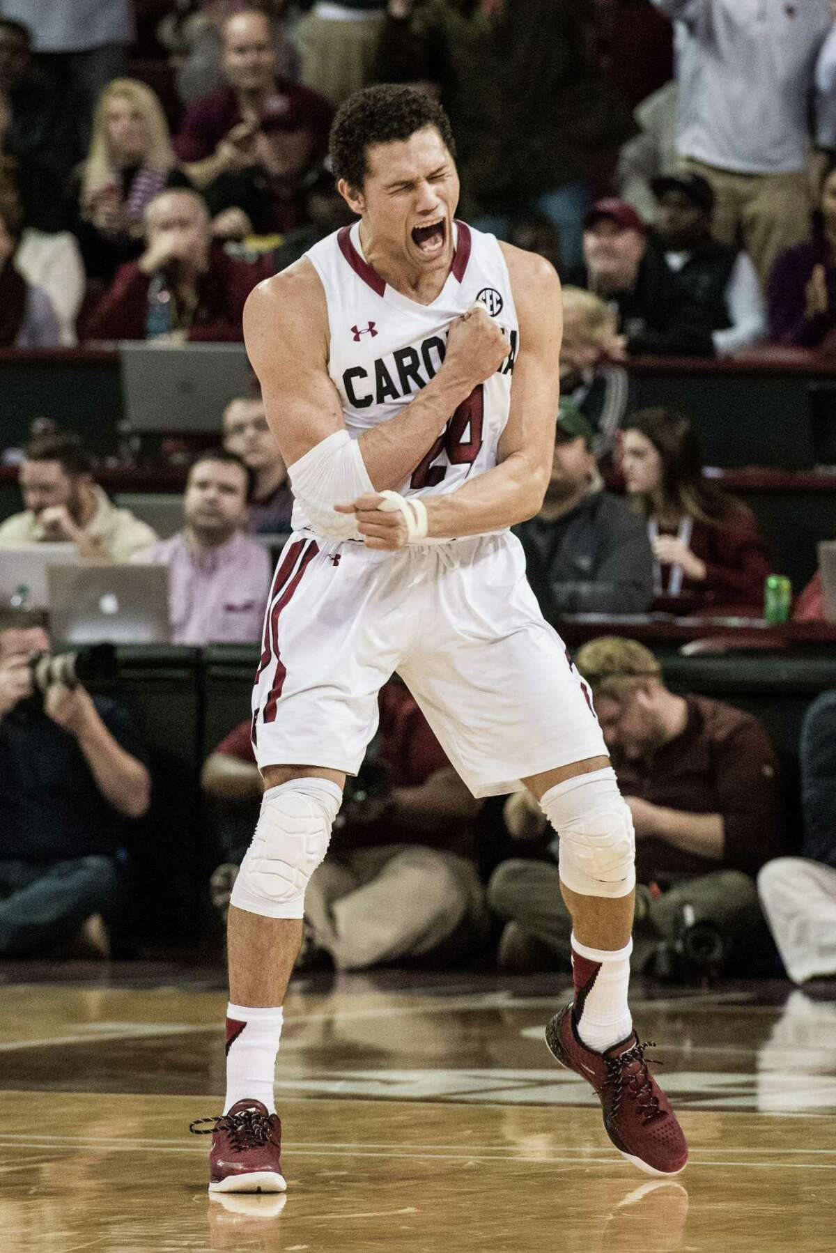 Four turnaround seasons3. South Carolina Last year, the Gamecocks finished just over .500 with a 17-15 record. This year, they remain one of three undefeated teams (along with Oklahoma and SMU). South Carolina will enter conference play on Tuesday, when it faces Auburn.