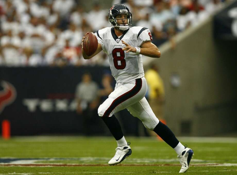 Matt SchaubBEFORE:Widely regarded as the NFL's top backup when the Texans acquired him in a 2007 trade, Schaub had taken his last snap for the Texans when O'Brien was hired on Jan. 3, 2014. Houston made the playoffs in two of Schaub's seven seasons and won postseason games in 2011 and 2012, though T.J. Yates started in the 2011 playoff triumph. The team went 2-14 with Schaub starting 10 games in 2013. When O'Brien was hired, the Texans traded Schaub to Oakland a fourth-round draft pick. Photo: Steve Ueckert, Houston Chronicle