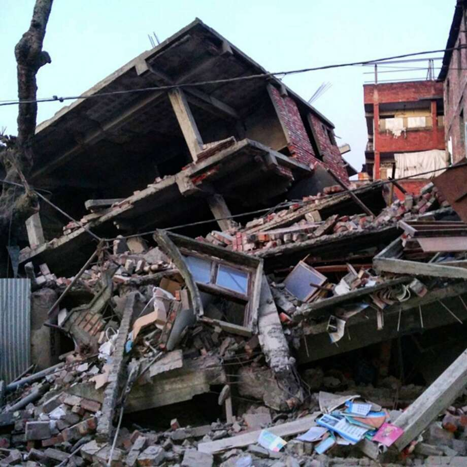 This picture taken from Instagram shows damage from a strong 6.7 magnitude earthquake which struck northeast India near the country's borders with Myanmar and Bangladesh in the city of Imphal, capital of Manipur state early on January 4. The early morning tremor was strongly felt across northeast India and in the Bangladeshi capital Dhaka, where television reports said at least 24 people were taken to hospital after being injured in the scramble that ensued. Photo: Deepak Shijagurumayum, AFP / Getty Images