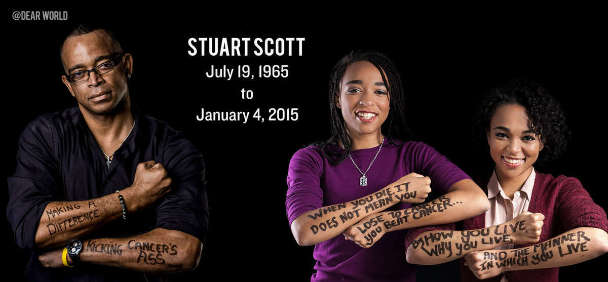 Stuart Scott's daughters Taelor and Sydni Scott posted an emotional video tribute to their late father.