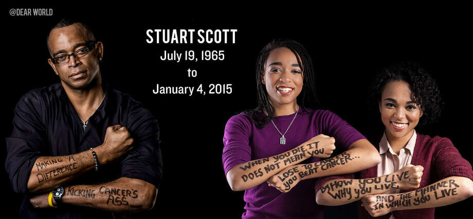 Stuart Scott's daughters Taelor and Sydni Scott posted an emotional video tribute to their late father. Photo: Dear World