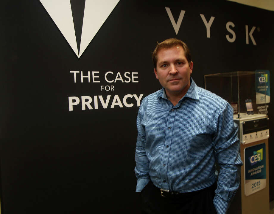 Victor Coccia is CEO of Vysk Communications, a San Antonio company that has developed smartphone cases designed to prevent eavesdropping and hacking. Photo: John Davenport /San Antonio Express-News / ©San Antonio Express-News/John Davenport
