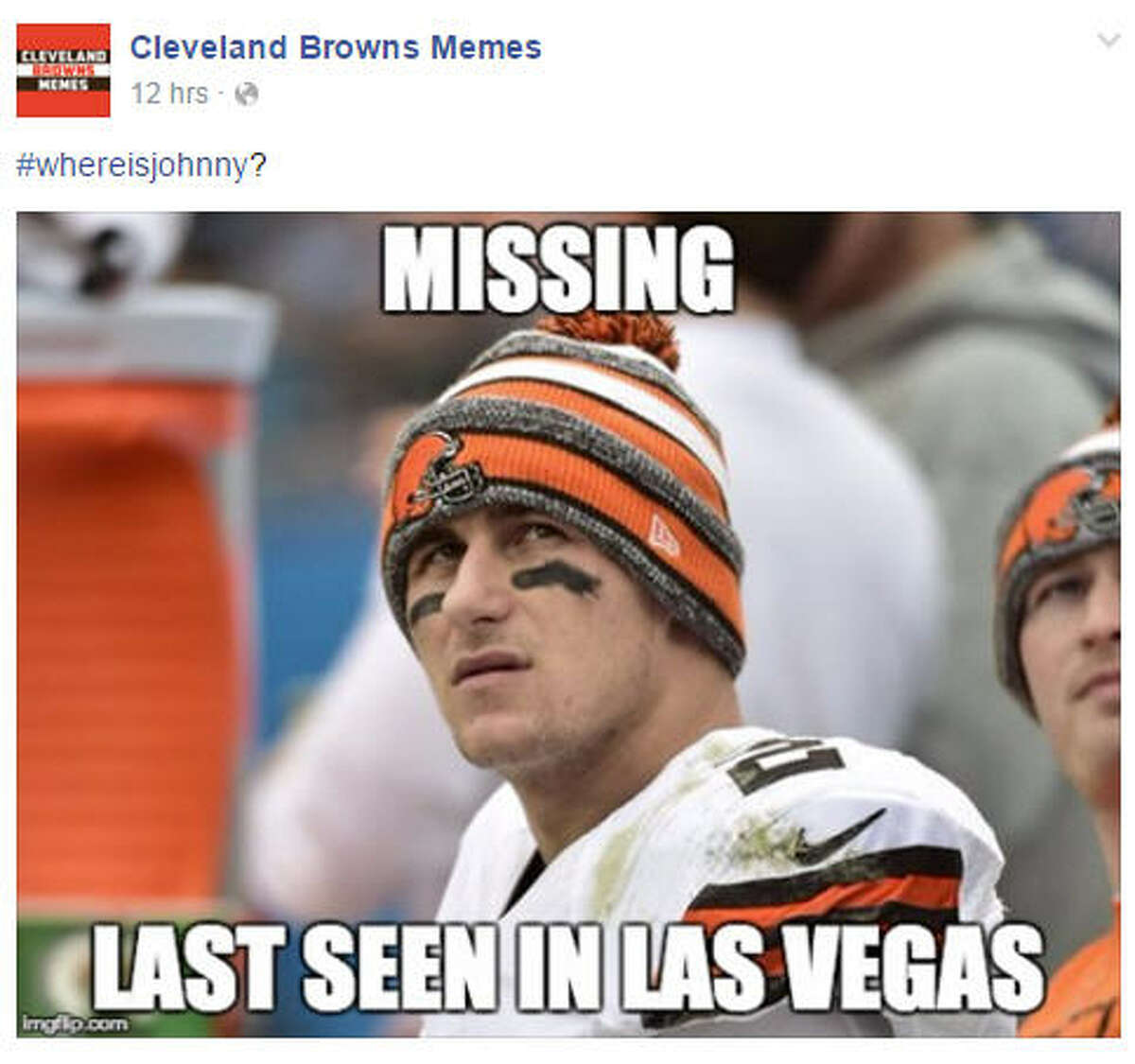 Manziel in Vegas? Johnny Manziel is in the NFL's concussion protocol and is supposed to show up for treatment Sunday morning. He never shows up and rumors are that he was in Las Vegas for the weekend wearing a disguise so no one would recognize him.