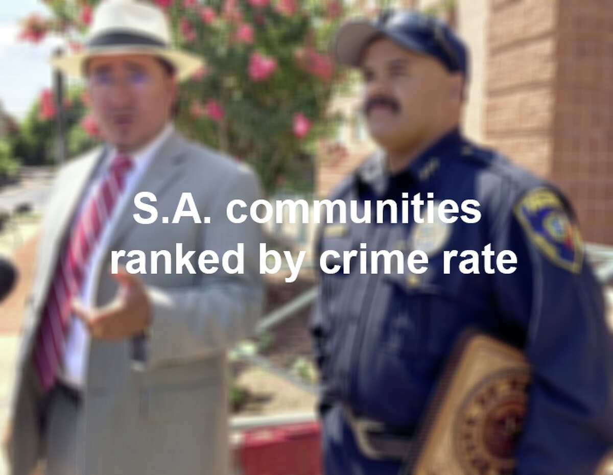 Scroll through the slideshow to see which cities and towns in the San Antonio-New Braunfels metropolitan area have the lowest crime rates.