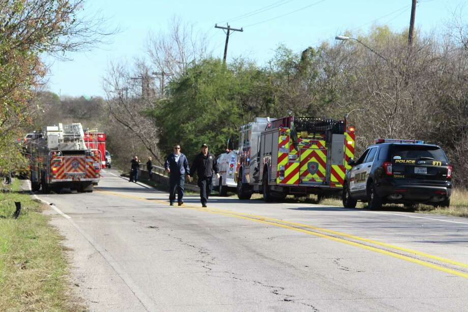 A woman was critically injured in a two-car collision Monday, Jan. 4, 2015, after she lost control of her vehicle and crashed into a creek in the 5000 block of New Sulphur Springs Road. Photo: By Tyler White / MySA.com