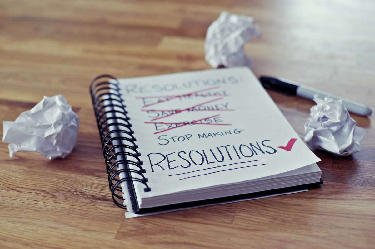 Perhaps the most successful strategy is not to make resolutions at all.