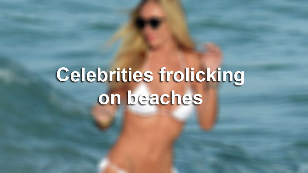 Celebrities spotted on beaches.