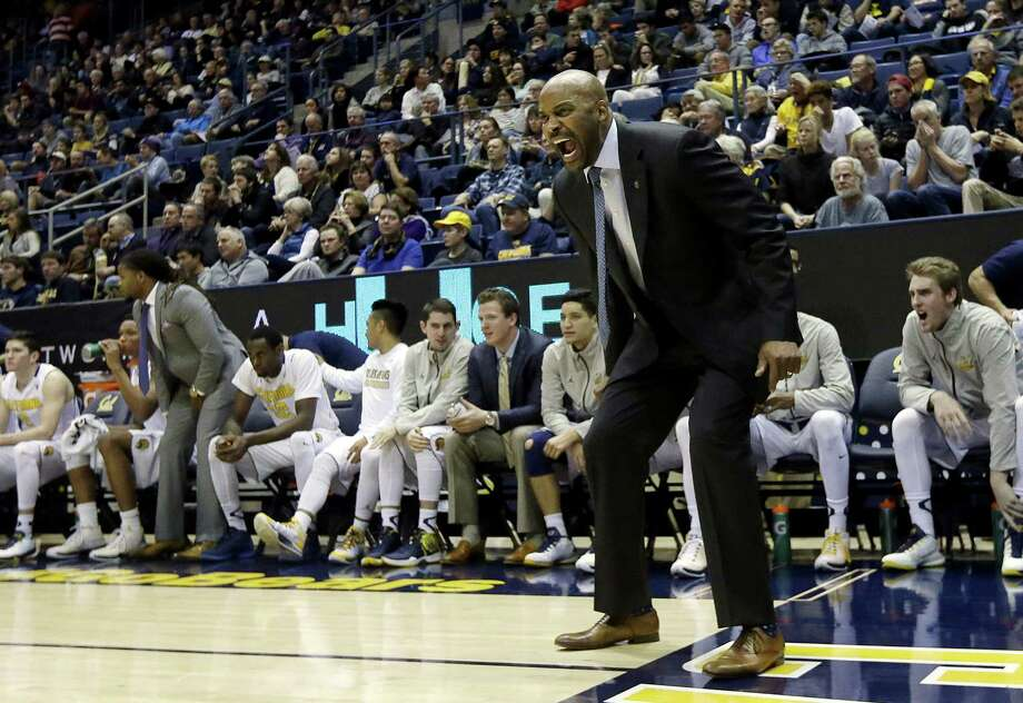 California head coach Cuonzo Martin yells during the first half of an NCAA college basketball game between California and Colorado in Berkeley, Calif., Friday, Jan. 1, 2016. California won 79-65. (AP Photo/Jeff Chiu) Photo: Jeff Chiu / Associated Press / AP