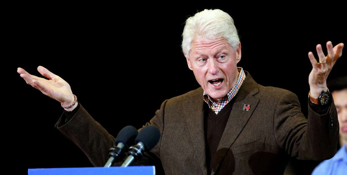 Bill Clinton He's riding shotgun this year.