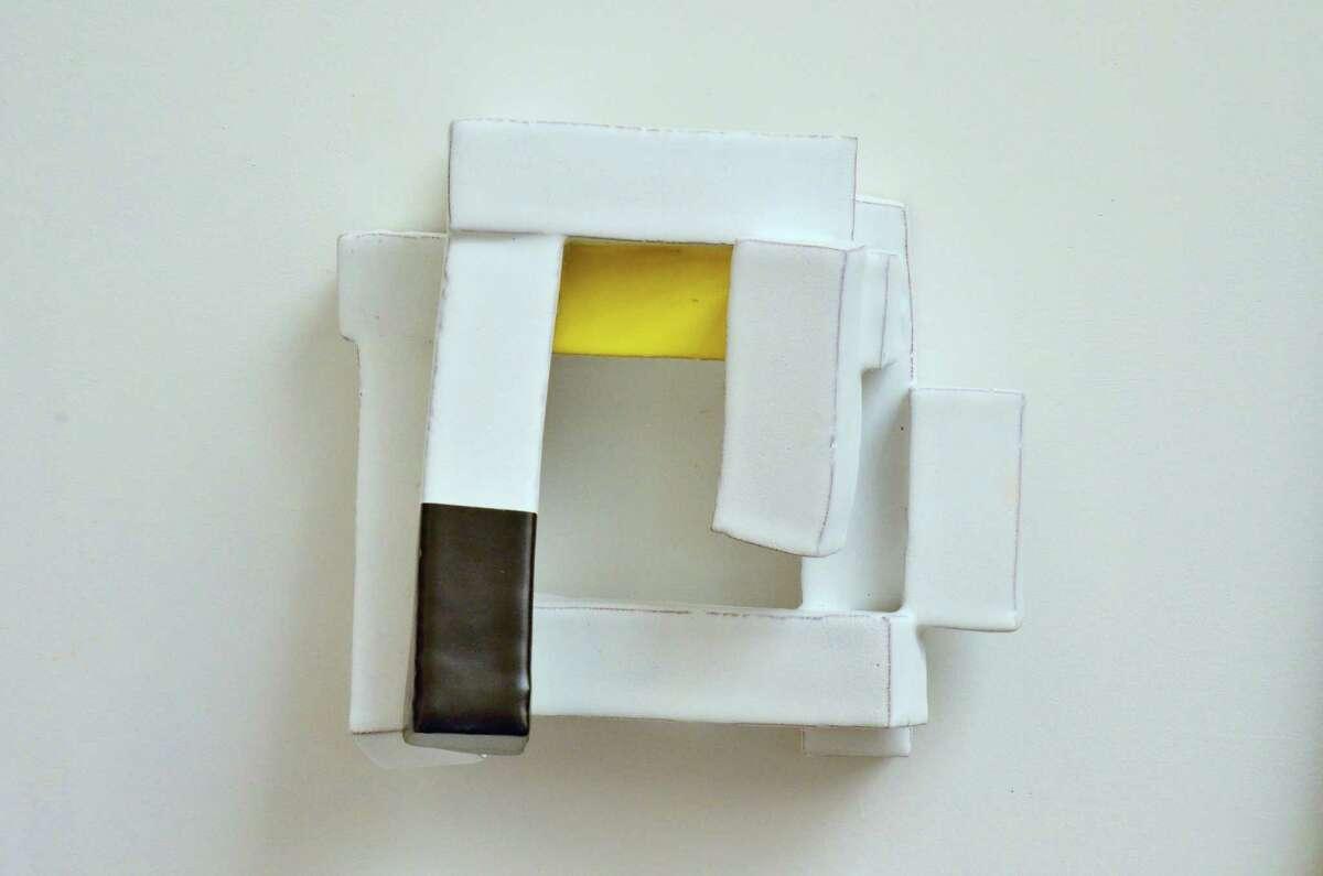 "Robert Brady's ""Language Series,"" clay/iron slip, 2015."