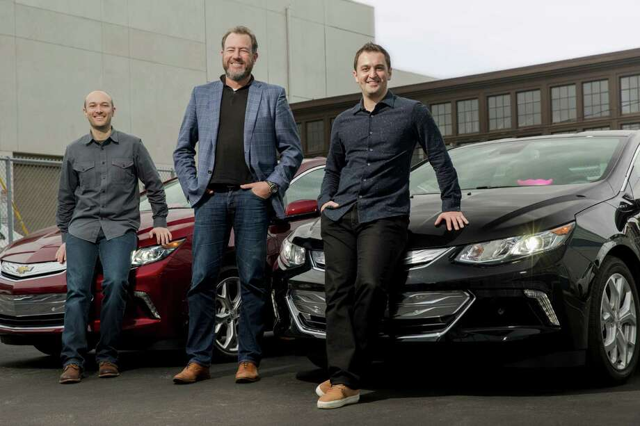 Lyft CEO Logan Green (from left), GM President Daniel Ammann and Lyft President John Zimmer are shown in this undated photo. General Motors has invested $500 million in Lyft, the ride-hailing service announced Monday, and will help develop a network of self-driving cars as part of the deal. Photo: Lyft / LYFT