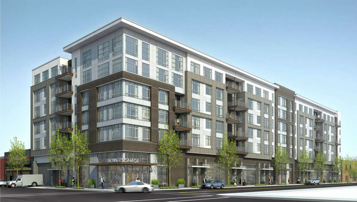 Thompson Dorfman Partners envisions a development near the 19th Street BART Station that would include shops and 234 apartments.