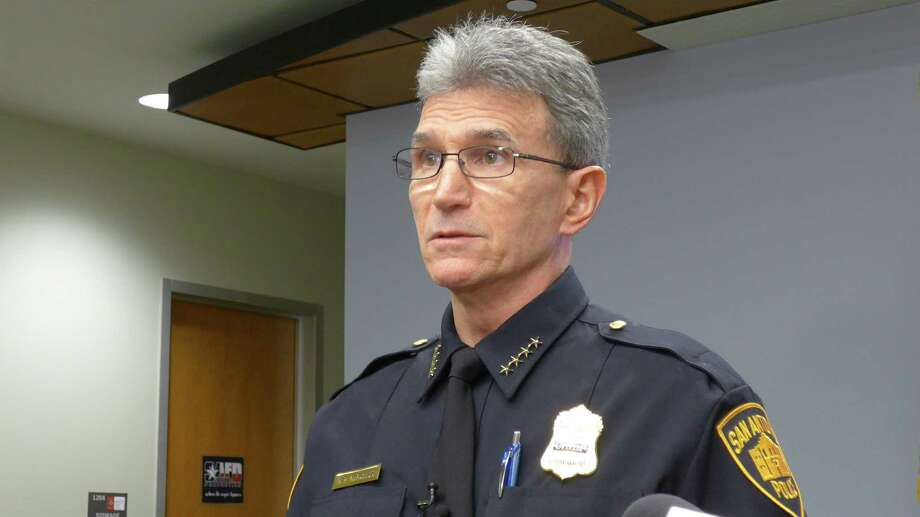 San Antonio Police Chief William McManus addresses the media on Monday, Jan. 4, in advance of his trip on Tuesday to Washington, D.C., to meet with federal officials about San Antonio policing initiatives. Photo: John W. Gonzalez / San Antonio Express-News