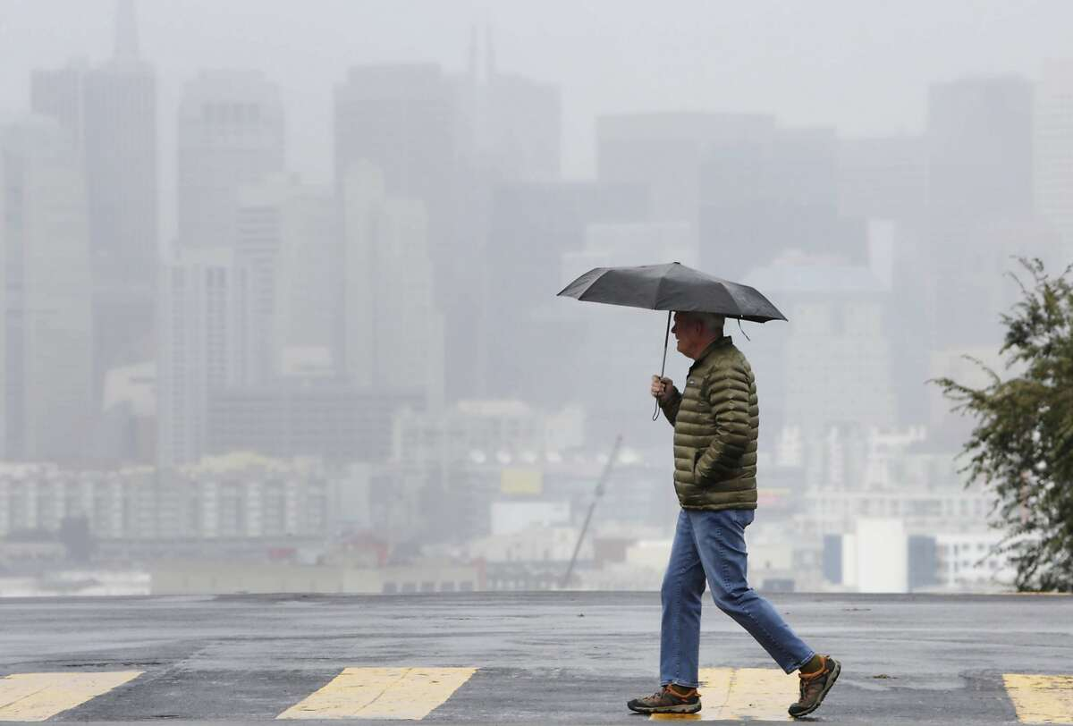 The city is in for a wet week, forecasters said, with storms lined up across the Pacific expected to bring three to five inches of rain to San Francisco and up to 10 inches of rain in the wettest parts of the North Bay.