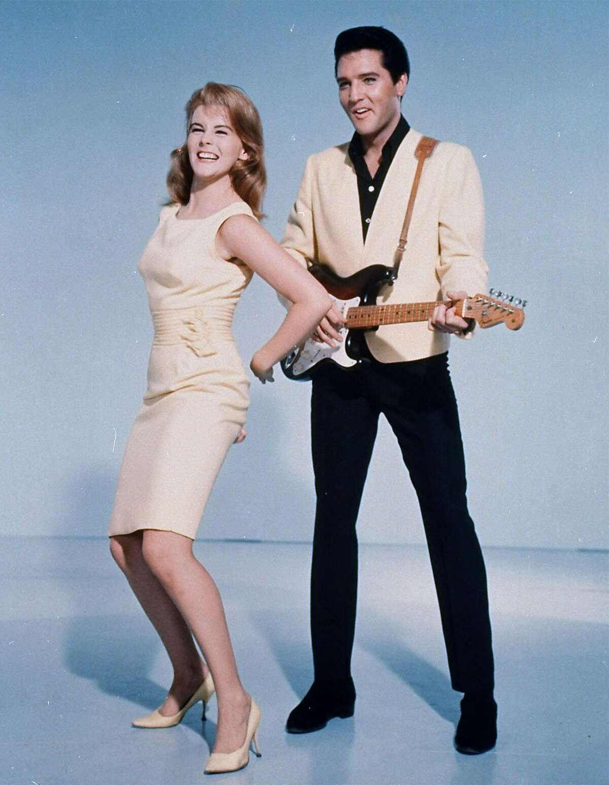 """Elvis Presley and actress Ann-Margret shown in a publicity photo for the 1964 film, """"Viva Las Vegas"""". (AP Photo)"""