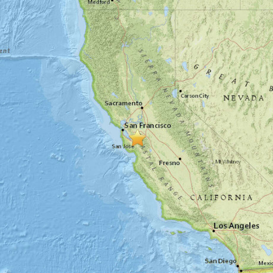A magnitude 2.8 earthquake struck at 6:37 am on January 5, 2015 about 4miles east of East Foothills, California. Photo: USGS