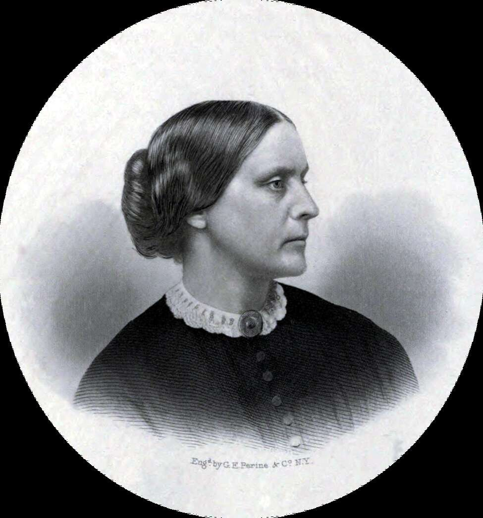 Susan B. Anthony (1820 - 1906). She campaigned around the country and the world for woman suffrage. In 1900, she persuaded the University of Rochester to admit women. In 1920, fourteen years after her death, the 19th Amendment to the U.S. Constitution, also known as the Susan B. Anthony Amendment, was ratified.