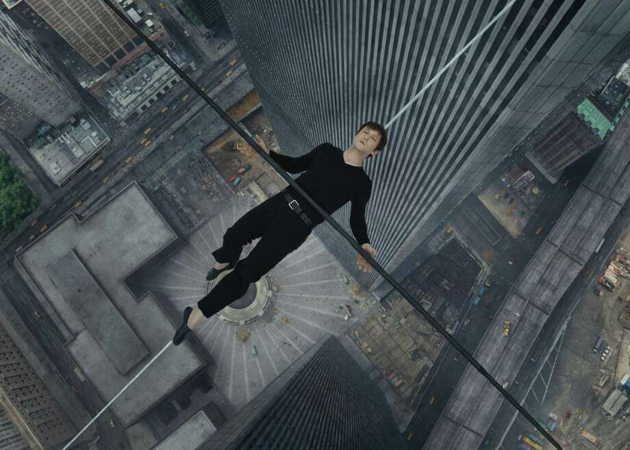 """You know Joseph Gordon-Levitt isn't really walking a wire 110 stories above New York, but your eyes will tell you differently in """"The Walk."""" Photo: Courtesy Of Sony Pictures / ONLINE_YES"""