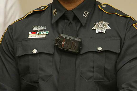 Body cameras such as this one worn by a Harris County sheriff's deputy, are being added to more local law enforcement agencies.   Body cameras such as this one worn by a Harris County sheriff's deputy, are being added to more local law enforcement agencies.