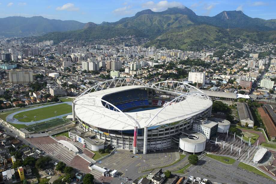 Aerial view of the Joao Havelange Stadium, locally known as Engenhao, on April 11, 2013 in Rio de Janeiro, Brazil. Engenhao will host Track and Field events in the next Olympics. It is now closed due to structural problems with its roof. Local authorities argue that the Engenhao is not safe to host public events until the problems are fixed. This stadium is also the home of Botafogo, of the Brazilian Serie A. See the following slides for the announcement of the location of the 2016 Olympic Games.