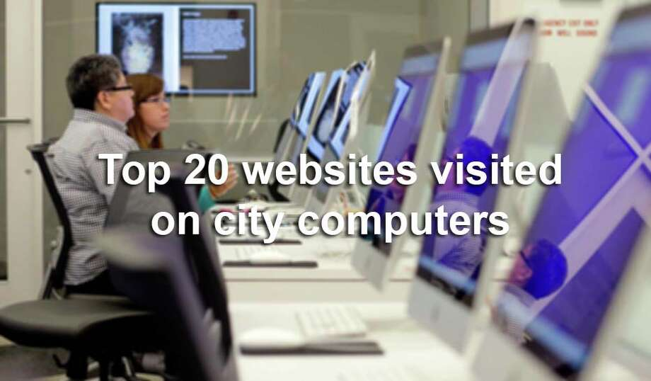 According to city records, these are the 20 most popular websites visited by city employees, computers and devices connected to wifi during the 30-day period ending Dec. 16, 2015. Photo: Eric Gay, AP