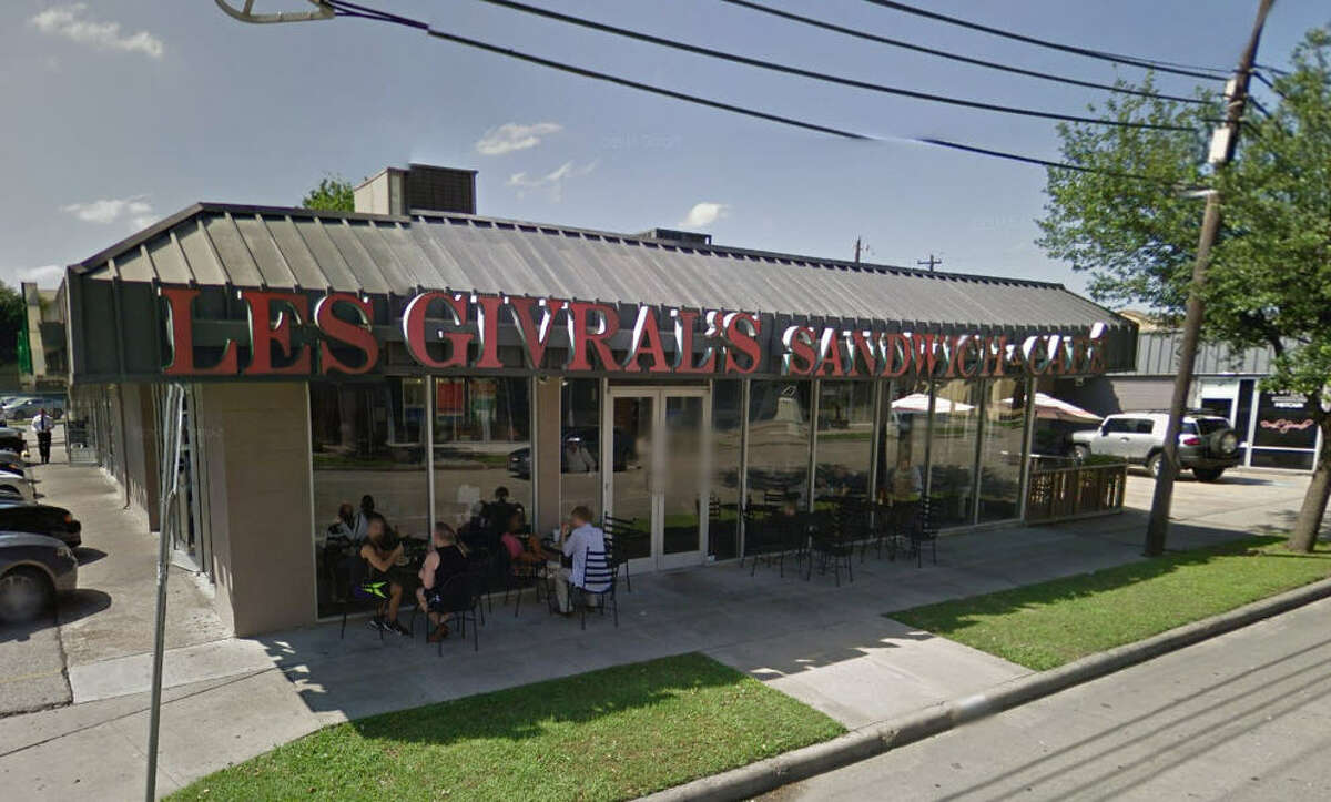 Les Givral's Sandwich & Cafe 2704 Milam, Houston, Texas 77006 Demerits: 23 Inspection highlights: Observed no (liquid / powder/ bar) soap available at hand-washing sink at the back preparation area. Observed nonfood-contact surfaces of equipment (inside bottom of upright refrigerator) not cleaned as often as necessary to keep the equipment free of accumulation of food particles and food debris (blood). Photo by: Google Maps