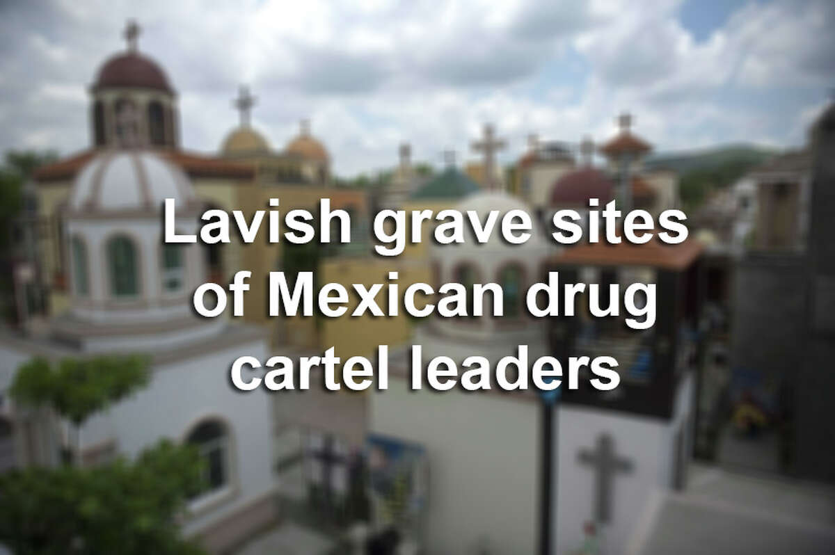 Scroll through the slideshow to see the lavish grave sites of some of Mexico's most notorious drug lords and their families.