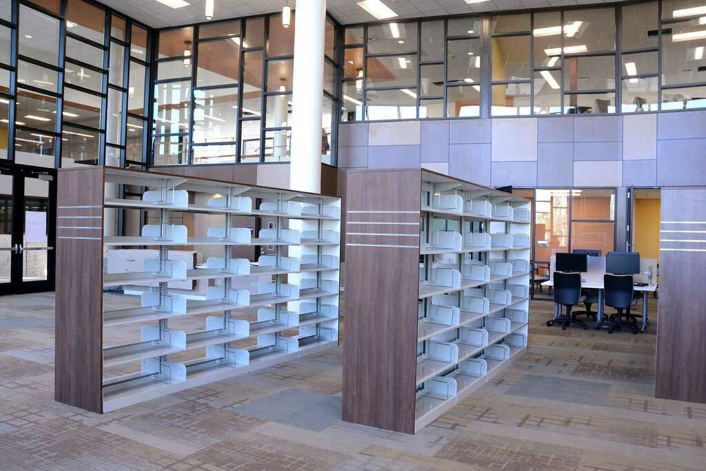Shelves Were Ready To Be Stocked Last Month At The New Library Lone Star College