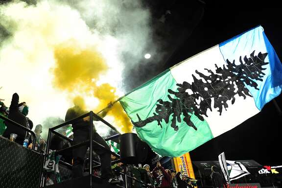 """You know those blue, white and green flags with a tree you've been seeing at soccer games? That'd be Cascadia. (The regional MLS championship is the Cascadia Cup and uses the """"Doug"""" flag, hence the confusion.) Depending on who is talking, this secession scheme would have British Columbia, Washington and Oregon as well as bits of the surrounding states and provinces break away to form a Pacific Northwest republic.  Note: An earlier version of this item included a photo of Seattle Sounders fans holding the Cascadia Cup. My sincere apologies to those who were offended by being associated with the secessionist movement. Those who corrected me have my thanks. – Levi Pulkkinen, seattlepi.com"""