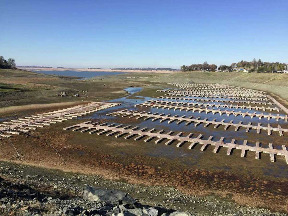 Folsom Lake: Before the storm A view of Folsom Lake on Dec. 31, 2015. California's ninth-largest reservoir outside Sacramento reached its lowest levels in Nov. 2015 and is finally starting to slowly fill back up with winter rains.