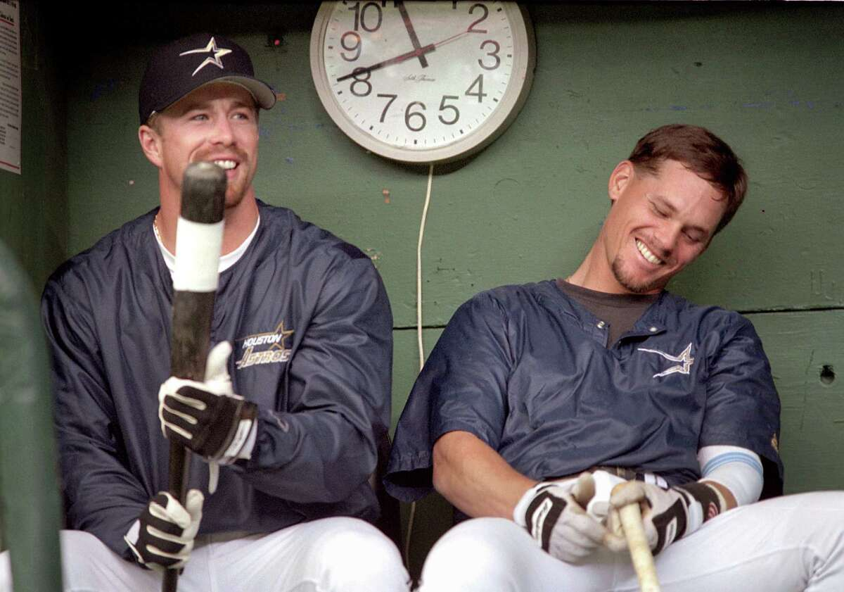 We'll find out today if Jeff Bagwell, left, and Craig Biggio, forever linked in Astros lore, will go into the Hall of Fame in back-to-back years.