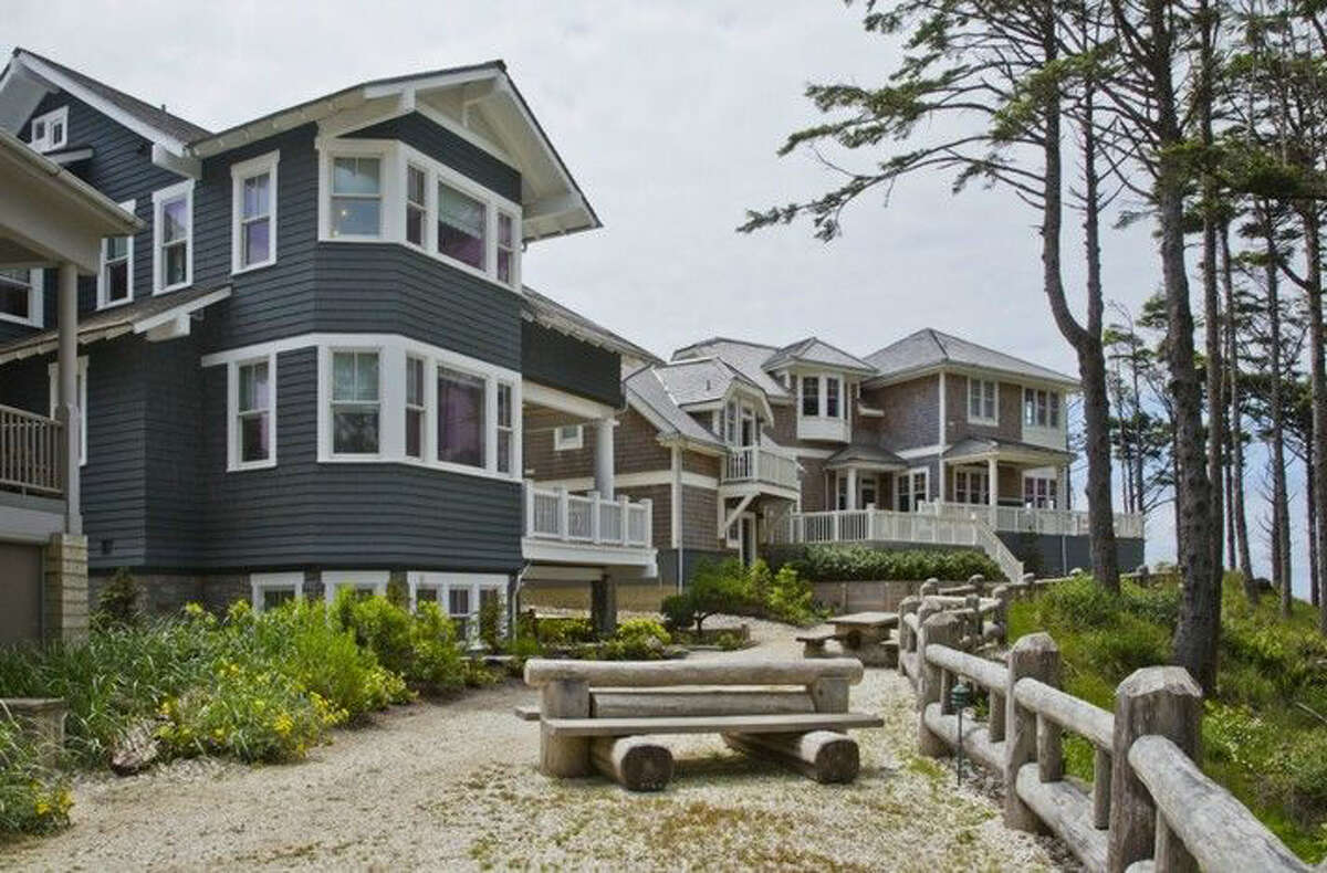 This house on Pacific Beach is in Seabrook, a planned community on the Washington coast in Grays Harbor County. The full listing is here.