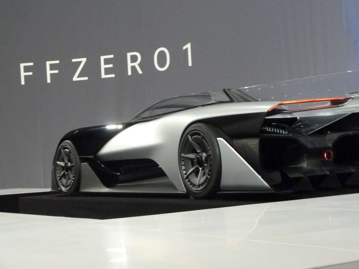 The new concept electric car FFZERO is unveiled by California startup Faraday Future during CES. Faraday Future is seeking to redefine mobility with a new line of electric vehicles.