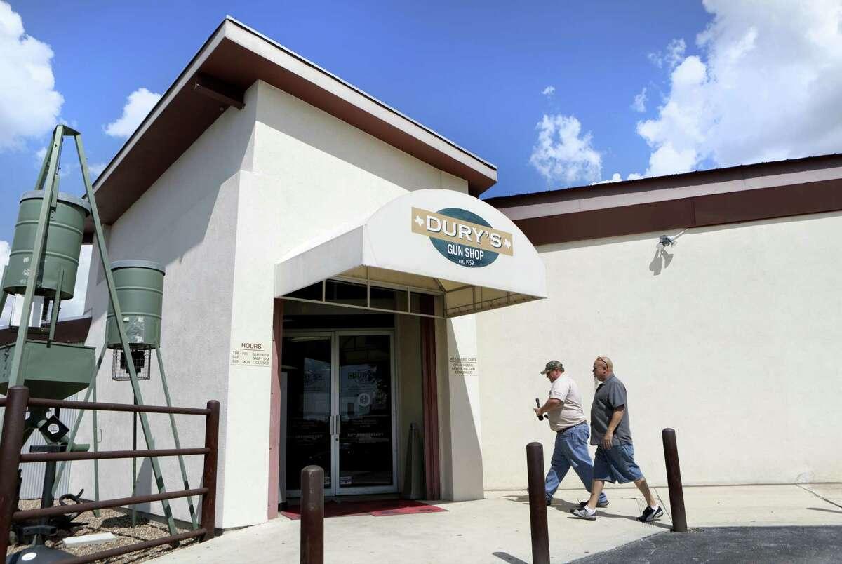 Dury's Gun Shop was established in 1959 in San Antonio, TX. Thursday, Sept. 12, 2013.