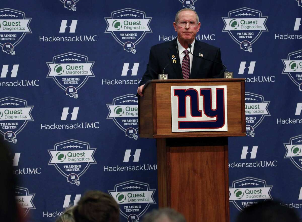 New York Giants head coach Tom Coughlin speaks at a news conference to officially announce his resignation, in East Rutherford, N.J., Jan. 5, 2016. Coughlin stepped down rather than being forced out after three consecutive losing seasons but the 69-year-old declined to say he was retiring for good. ?