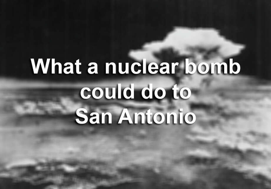 Click through to see the simulated destructive power of this bomb and more around San Antonio. Photo: Courtesy / US Army via Hiroshima Peace Memorial Museum
