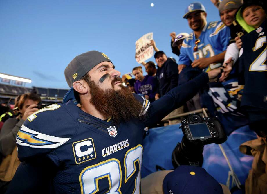 Fined for watching his daughter's halftime performanceThe San Diego Chargers fined safety Eric Weddle $10,000 because he stayed on the field at halftime of a home game to watch his daughter in a dance performance. The five-time All Pro didn't miss much at halftime since the Chargers led the Dolphins 23-0 and an unnamed Chargers player said the halftime instruction from coaches amounted to: Keep it up. Photo: Denis Poroy, Associated Press / FR59680 AP