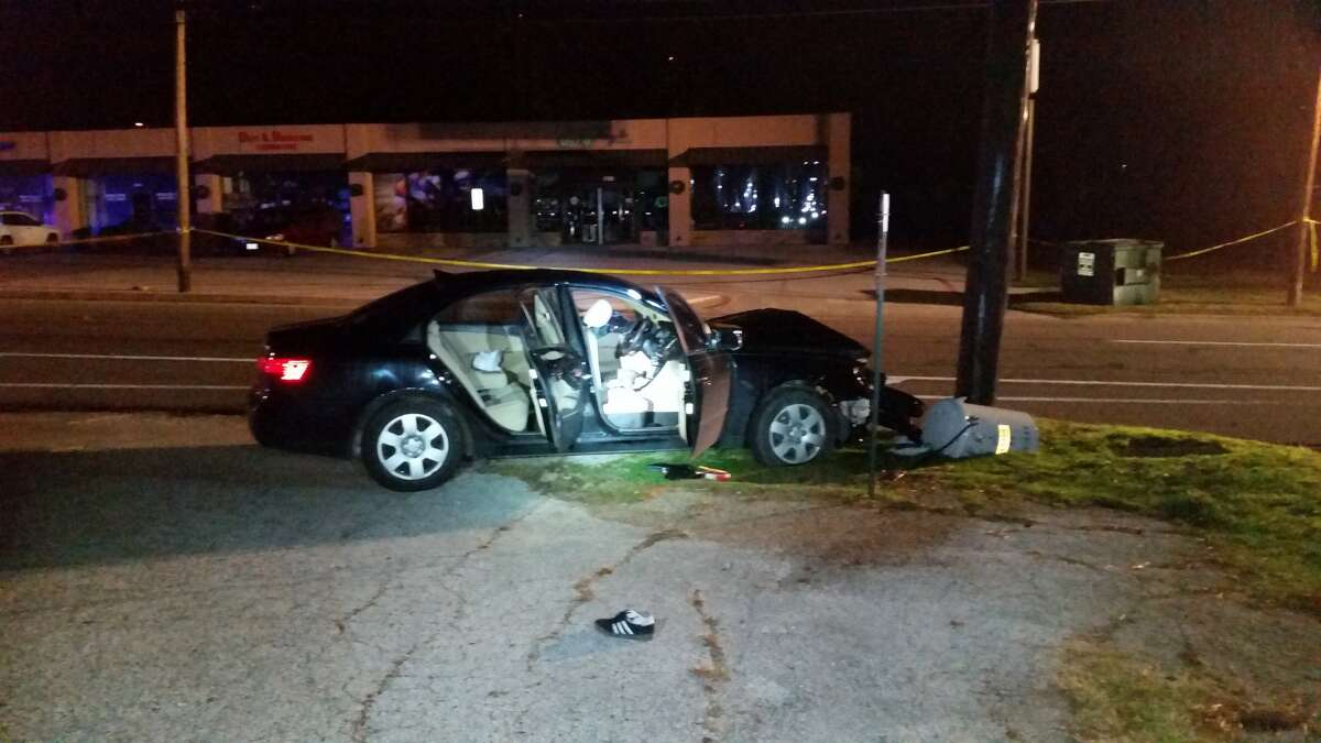 3. Officers with the Denton Police Department found Mutschlechner lying on the ground near a four-door sedan that had crashed into an electrical poll at around 2:06 a.m. Friday.