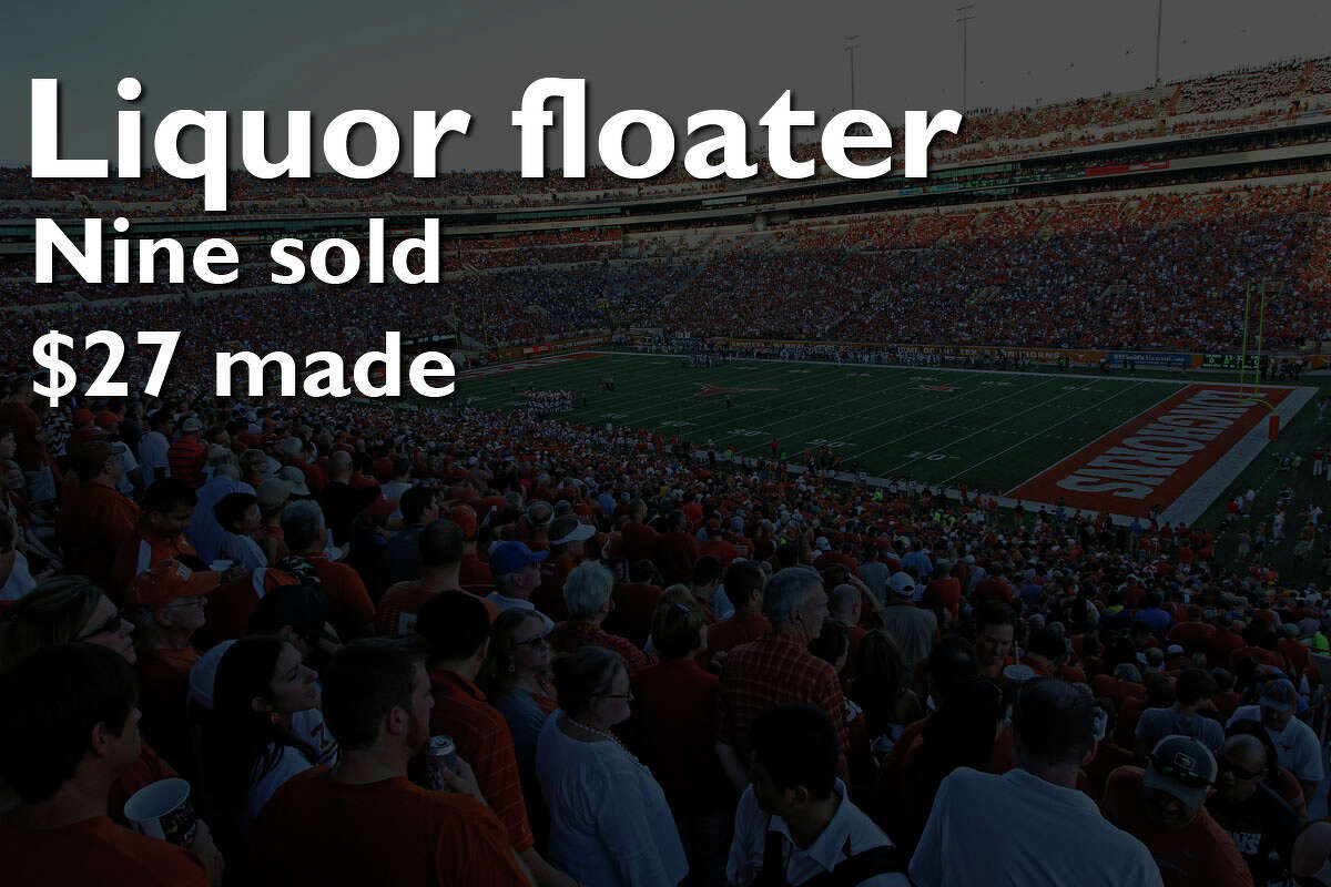 University of Texas earned more than $1.8 million during the school's first year selling alcoholic beverages at Longhorn football games.