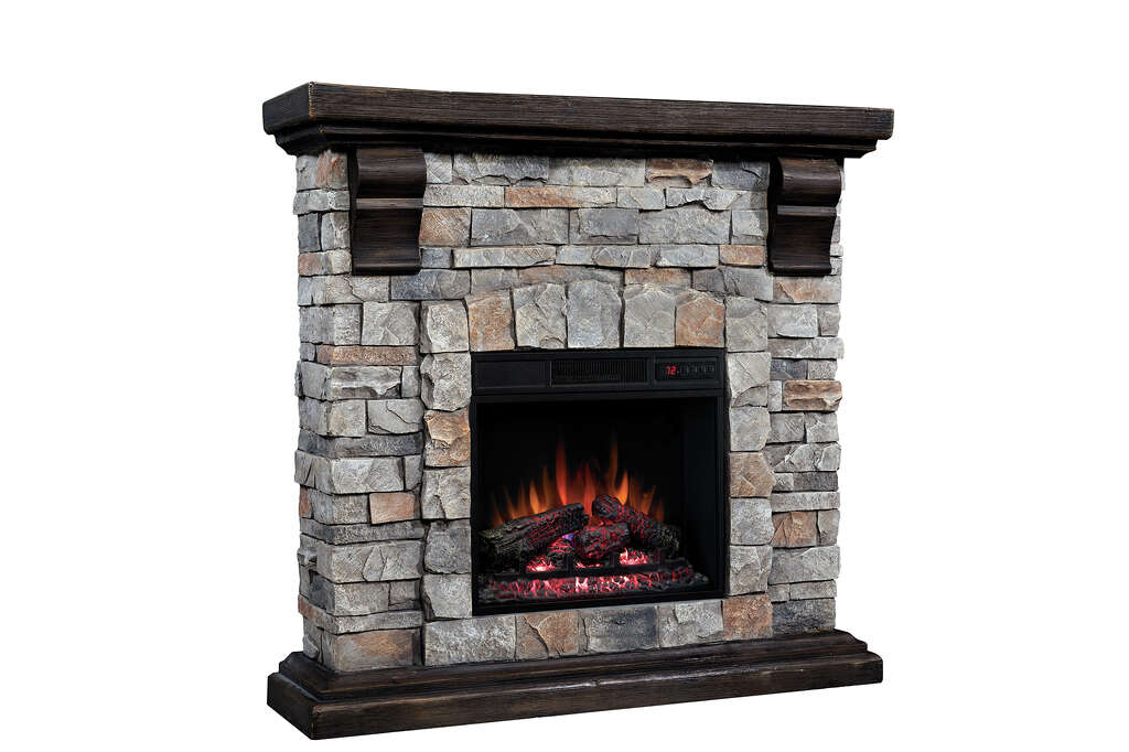You can have a fireplace without the fireplace san antonio express twin star internationals pioneer mantel model is an electric fireplace photo courtesy twin teraionfo