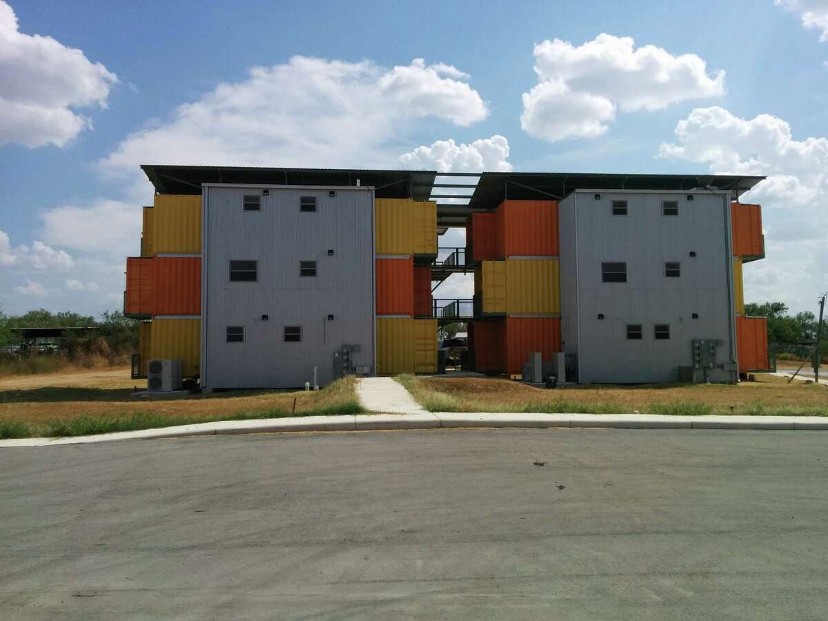 David Monnich's container home apartment complex.