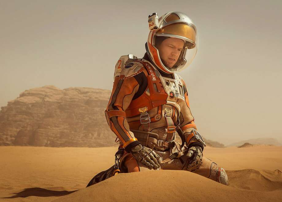 "NOT ALONE ""The Martian"" (starring Matt Damon, bumming out here) is among the nominees in the dramatic category of the Eddies, the awards given by the American Cinema Editors. They're a fair bellwether of the Oscar winners.  Photo by Aidan Monaghan / Courtesy of Twentieth Century Fox Film Corporation Photo: Aidan Monaghan, Courtesy Of Twentieth Century Fo"