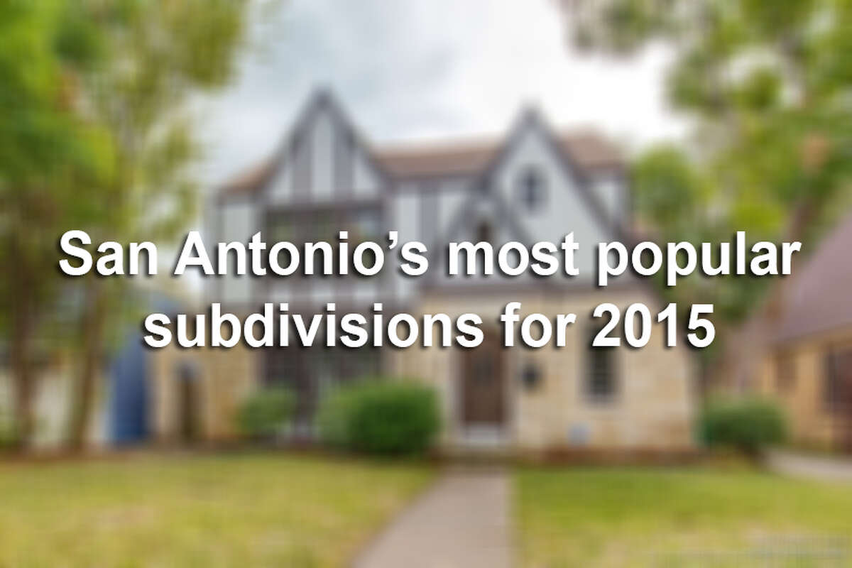 Neighborhoods from the South Side to Boerne saw dozens and sometimes hundreds of new home owners throughout 2015.Click through the slideshow to see the 30 subdivisions where the most homes where sold last year.