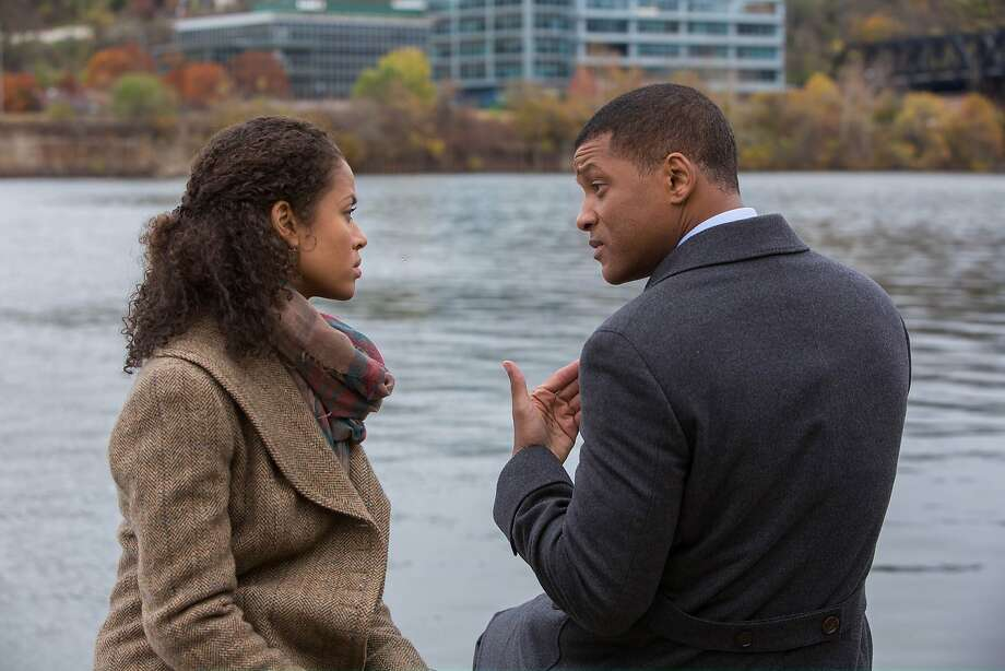 "Gugu Mbatha-Raw and Will Smith in ""Concussion."" Photo: Melinda Sue Gordon, Washington Post"