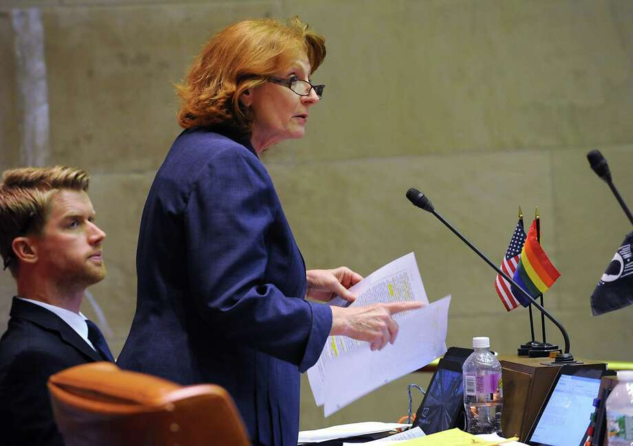 Assembly member Jo Anne Simon discusses a bill on Wednesday, June 24, 2015, at the Capitol in Albany, N.Y. (Lori Van Buren / Times Union archive) Photo: Lori Van Buren / 00032380A