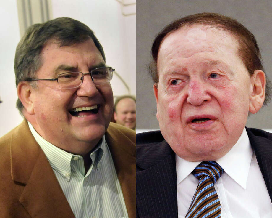 Michael Schoeder and Sheldon Adelson Photo: Associated Press / Via AP / Connecticut Post Contributed