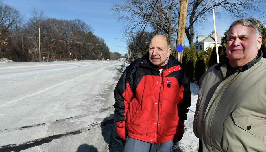 View of Van Rensselaer Boulevard looking north from Amsterdam Avenue with concerned residents Mel Horowitz, left, and Rick Rogozinski on Wednesday  Jan. 6, 2016 in Menands, N.Y. (Skip Dickstein/Times Union) Photo: SKIP DICKSTEIN / 10034890A