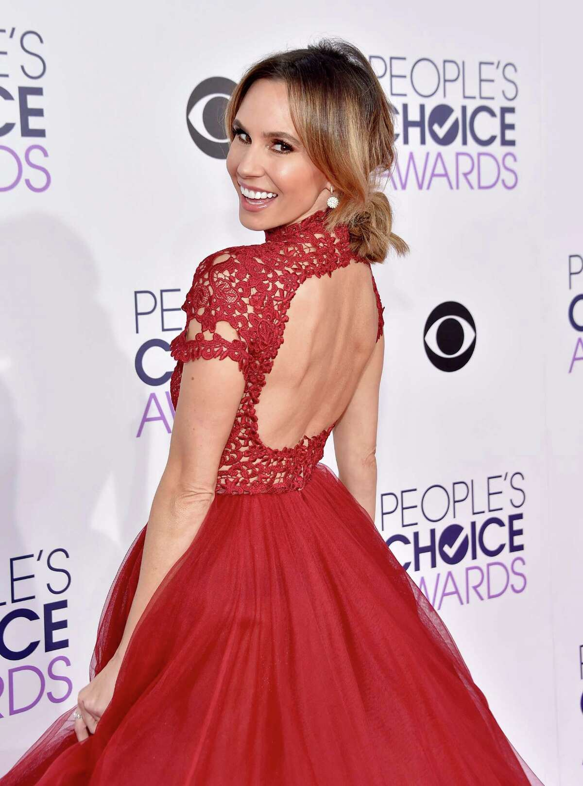 And we fell in love with TV personality Keltie Knight's dress. The open back gives the otherwise mom dress a sexy touch.