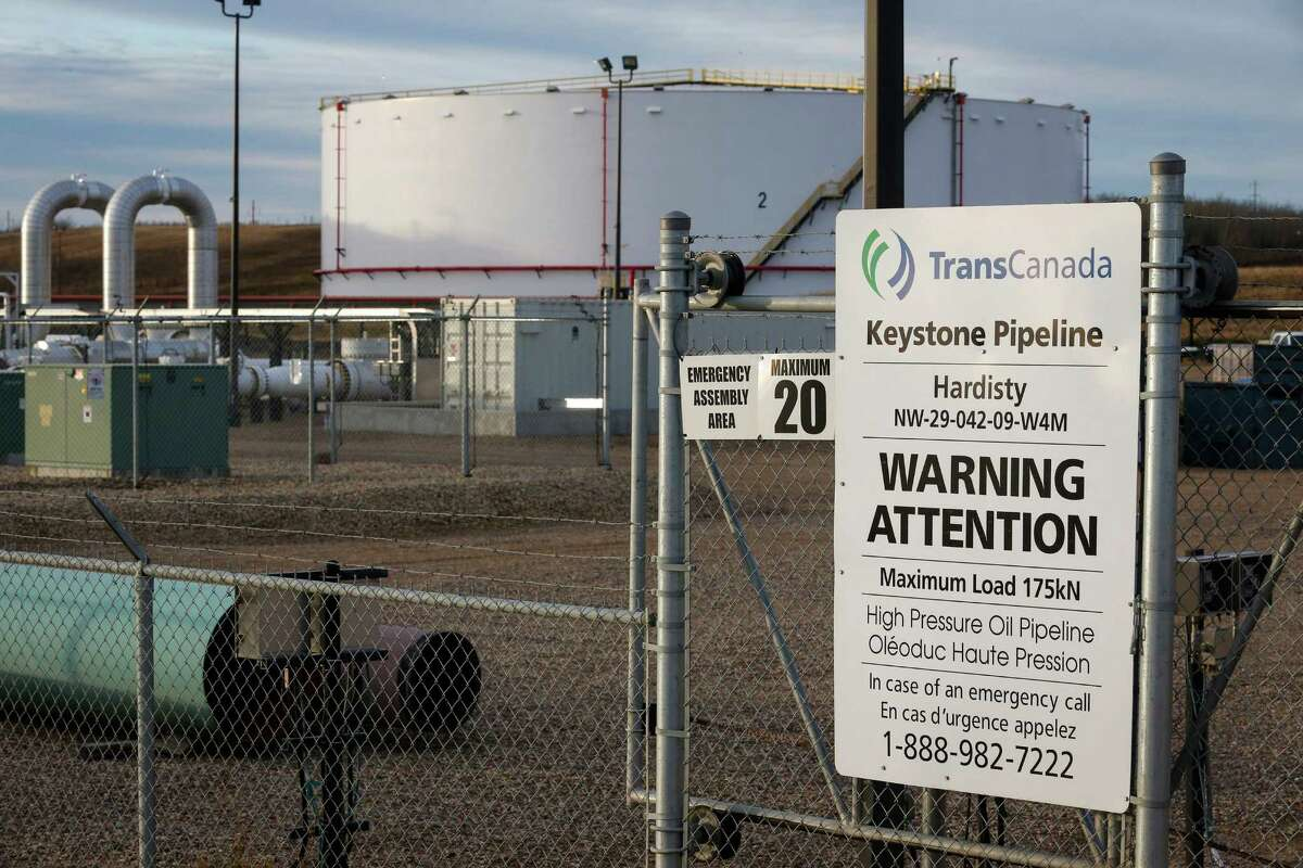TransCanada has facilities in Hardisty, Alberta, for its Keystone XL pipeline. TransCanada has sued over U.S. rejection of a permit for the pipeline.